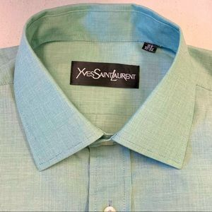 Yves Saint Laurent Men's Collared Button Shirt